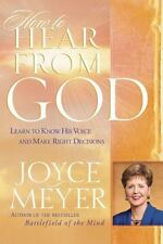 How to Hear from God a Christian Hardcover book by Joyce Meyer FREE SHIPPING