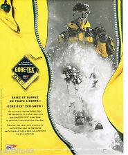 PUBLICITE ADVERTISING 065  2001  GORE-TEX  laminés pour vetements sport ski