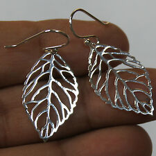 Dangle Leaf Thai Earrings 925 Sterling Silver