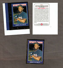 1992 Sports Cards Insert Production Proof (& Ref Copy), Twins' Kirby Puckett