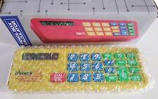 Vintage Yellow Pencil Box Calculator Soft Rubber Buttons Translucent Case