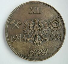 FOR MERIT FOR MINING SERVICE POLISH POLAND HUGE MEDAL