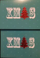 Luxury Clintons 2 X Christmas Card  Trees Glitter NEW Happy Christmas Cards
