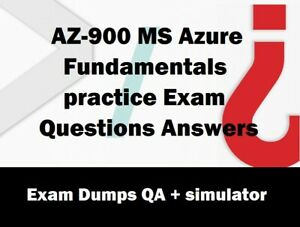 AZ-900 MS Azure Fundamentals practice Exam Questions Answers