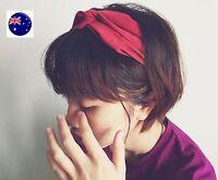 Women BOHO 80' 70' Cross Bandana look Synthet Suede Hair Wrap Head band headband
