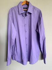HUGO BOSS Plum Purple Solid LS Button Down Shirt - Mens 44 / 171/2 - EUC