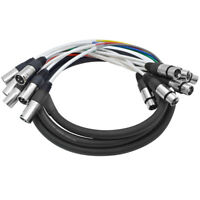 Seismic Audio - 6 Channel XLR Colored Snake Cable 10 Feet - NEW - Pro Audio