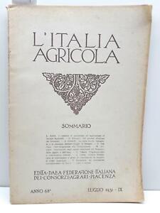 L'Italia agricola luglio 1931 Federazione italiana consorzi agrari Piacenza