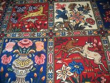 "Antique, oryental, pictorial, hand made rug, 6'10"" X 10'4"""