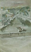 Debbi Chan Watercolor on Silk Dworshak Dam Ahsahka , Idaho  unframed