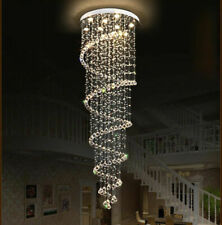 Neu LED Wendeltreppe K9 Kristall Kronleuchter Deckenlampen Hängelampe Lüster