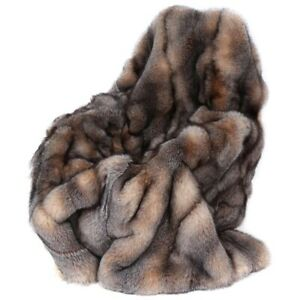 5stars full skin REAL FOX FUR throw,fur comforter,fur blanket, fur rug,Pelzdecke