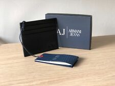 Armani Jeans Men's Calfskin Leather Pebble Card Holder Wallet, Style 06V2R Q7 12