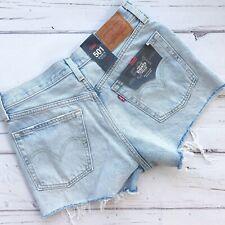 Levis 501 Premium women sz 27 cutoffs jean denim shorts button fly high rise New