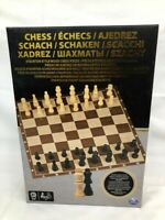 Wooden Chess Set Board Games Includes Board & 32 Pieces By Spin Master BNIB 6+