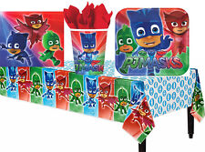 PJ Masks Boys Birthday Party Pack Table cover Plates Cups Napkin ~ 33pc 8 Guests