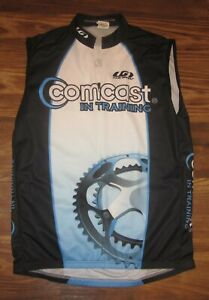 Comcast In Training Mens Sleeveless Cycling Jersey, Louis Gameau, Size XL, EUC