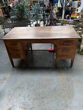 More details for vintage antique wooden desk.jb furniture's since 1892. home office. retro.
