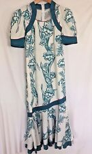 Small Tori Richards Liberty House Golden Monarch Vtg Hawaiian Maxi Dress Mumu