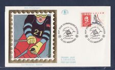 enveloppe 1er jour  Jeux Olympiques  slalom  73  les Menuires     1991