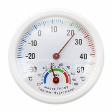 HU Thermometre hygrometre aiguille Cadran rond TESTEUR exterieur interieur blanc