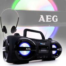 Stéréo Soundbox CD USB MP3 Ghettoblaster Boombox Écouteurs Bluetooth AEG