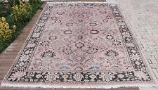 Turkish Rug 88''x119'& #039; Vintage Soft Pink Color Oriental Rug Carpet 224x303cm