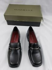 New Danelle Black Leather 5.5 M Shoes Loafers Made in Brazil Women's