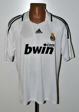 REAL MADRID 2008/2009 HOME FOOTBALL SHIRT JERSEY ADIDAS SIZE XL ADULT