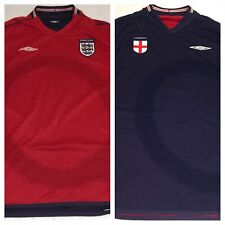 UMBRO England Long Sleeve Football Jersey March 2004 26:03:02 Reversible Jersey
