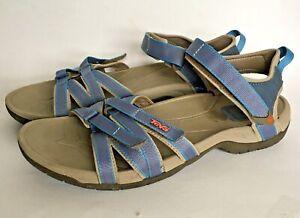 Teva Tirra Sandals Size 11 Medium Blue Ankle Strap Hiking Walking 4266