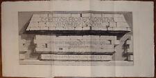 Piranesi stampa antica old print kupferstich Piramide iscrizione 1784 gravure
