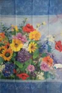 Poppy Meadow Standard House Flag by Breeze Art #3902.