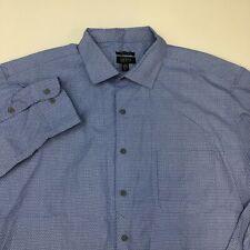 Alfani Performance Button Up Shirt Men's Size 18.5 Long Sleeve Blue Cotton Blend