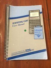 TDS SURVEYING CARD USER'S MANUAL SURVEYOR
