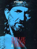 WILLIE NELSON AND FAMILY 1986 WRANGLER TOUR CONCERT PROGRAM BOOK-EX 2 NEAR MINT