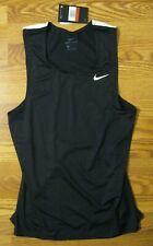 Nike Black Dri-Fit Tank Sleeveless Activewear Running Shirt Mens Large New Nwt