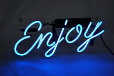 "Handmade 'Enjoy' Beer Bar Pub Art Banner Real Neon Light Sign 10""x9"""