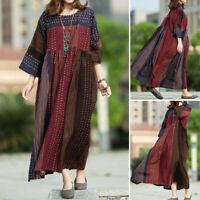 Oversize Femme Robe imprimée Manche Longue Col Rond Loisir Casual Simple Dresse
