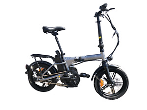 "Nakto Folding E-Bike City Folder 36V 10ah Electric Bike 16"" Bicycle Silver new"