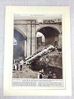 1953 Vintage Stampa The Irk Fiume Viadotto Treno Colpo Disaster Manchester