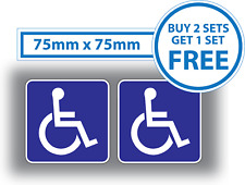2 x Disabled Sticker Small Blue Badge Motorbike Car Vehicle Bicycle 75mm Vinyl