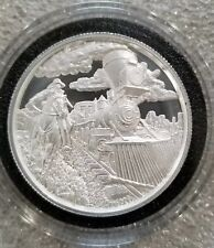 2 oz .999 Silver The Beginning Lawless Chapter 1 Cowboy Outlaw Train Robber NEW!