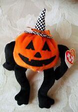 "NEW 2006 Ty - Halloween Pumpkin with Witch Hat - ""Trick R. Treat"" - Beanie Baby"