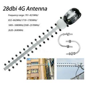 Yagi-Richtantenne 4G LTE Gain High 28 dBi SMA 696-960 MHz / 1710-2690 MHz NEU