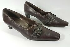 Gabor Comfort brown leather mid heel shoes uk 5.5 G super condition