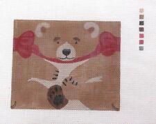 Liz / Susan Roberts Brown Bear Roll Ornament Handpainted HP Needlepoint Canvas