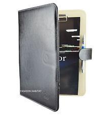 A4 Veranstalter-Portfolio Kunst Schwarz & Creme / DVD Clip Karte iPad Tablet