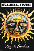 Sublime 40 Oz To Freedom Debut Album Ska Punk Band Music Poster 24x36