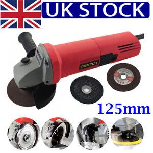 850W 125mm Electric Angle Grinder Sander Wood Cutting Grinding 2 Discs UK Plug